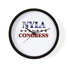 NYLA for congress Wall Clock