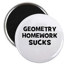 "Geometry Homework Sucks 2.25"" Magnet (10 pack)"