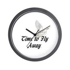 Time to Fly Away Wall Clock