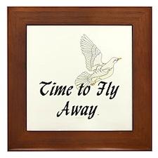 Time to Fly Away Framed Tile