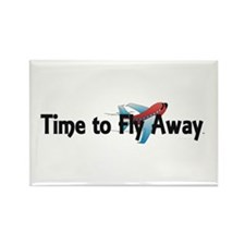 Time to Fly Away Rectangle Magnet (10 pack)