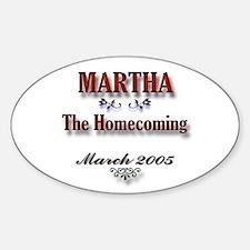 Martha Homecoming Oval Decal