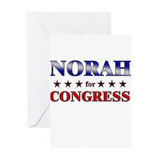NORAH for congress Greeting Card