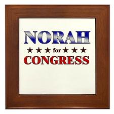 NORAH for congress Framed Tile