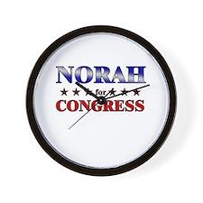 NORAH for congress Wall Clock