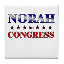 NORAH for congress Tile Coaster