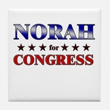 NORAH for congress Tile Coaster