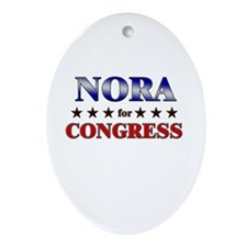 NORA for congress Oval Ornament