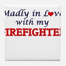 Madly in love with my Firefighter Tile Coaster