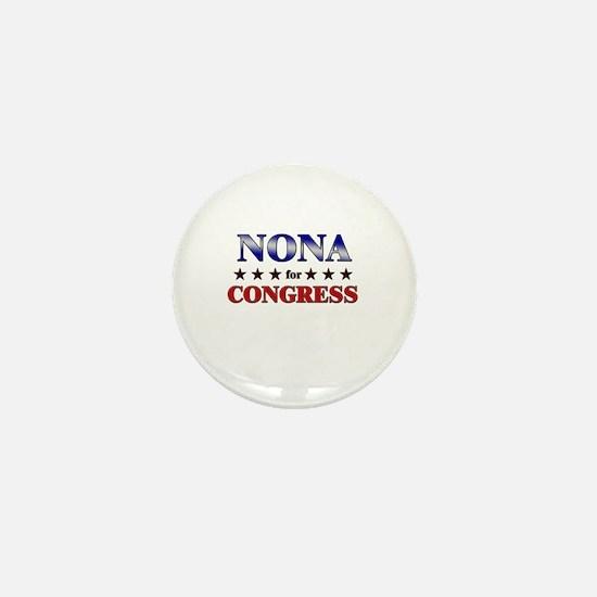 NONA for congress Mini Button