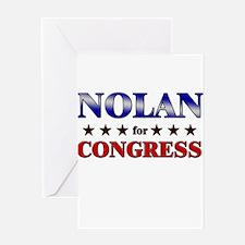 NOLAN for congress Greeting Card