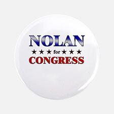 """NOLAN for congress 3.5"""" Button"""