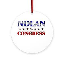NOLAN for congress Ornament (Round)