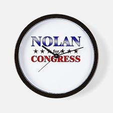 NOLAN for congress Wall Clock