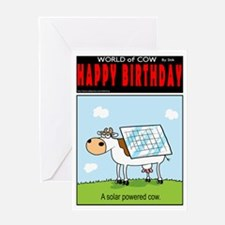 Solar Cow Greeting Card