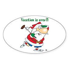 Vacation Santa Oval Decal