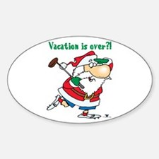Vacation Santa Oval Decal