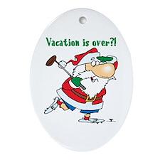 Vacation Santa Oval Ornament