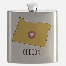 Oregon State Heart Flask