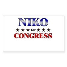 NIKO for congress Rectangle Decal