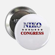 """NIKO for congress 2.25"""" Button"""