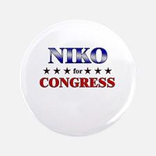 """NIKO for congress 3.5"""" Button"""