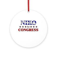 NIKO for congress Ornament (Round)