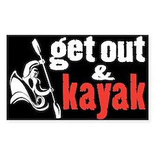 Get Out & Kayak Rectangle Decal