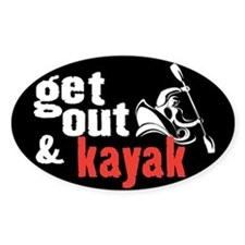 Get Out & Kayak Oval Bumper Stickers