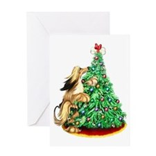 Afghan Hound Red ReachGoals Greeting Card