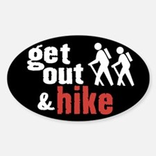 Get Out & Hike Oval Decal