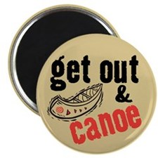 Get Out & Canoe Magnet