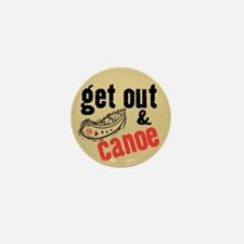 Get Out & Canoe Mini Button