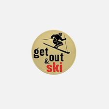 Get Out & Ski Mini Button