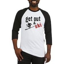 Get Out & Ski Baseball Jersey