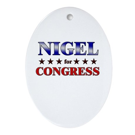 NIGEL for congress Oval Ornament
