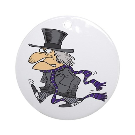 Scrooge Ornament (Round)