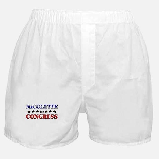 NICOLETTE for congress Boxer Shorts