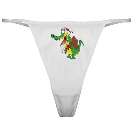 Christmas Crocodile Classic Thong