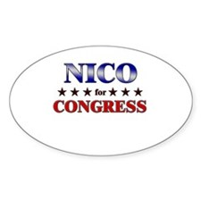 NICO for congress Oval Decal