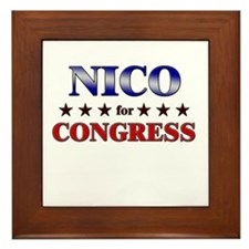 NICO for congress Framed Tile