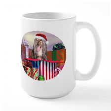 Afghan Hound Christmas Surprise Mug