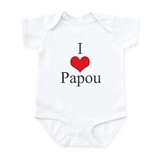 I Love (Heart) Papou Infant Bodysuit
