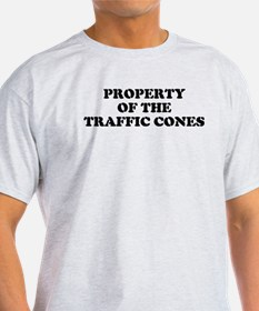 Ash Grey T-Shirt. Mighty Traffic Cones.