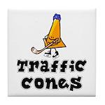 Tile Coaster. Traffic Cones.