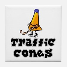 Tile Coaster. Traffic Cones.