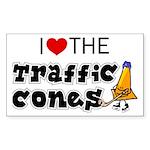 Rectangle Sticker, Traffic Cones