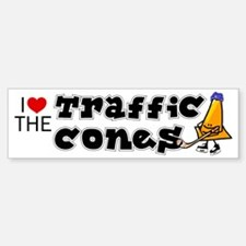 Bumper Sticker. I love the Traffic Cones, hockey