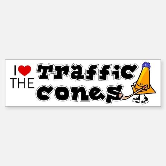 Bumper Sticker. I love the Traffic Cones, hockey