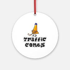 Ornament (Round). Traffic Cones.
